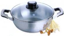 Сковорода шабу со стеклянной крышкой – «Экстра»